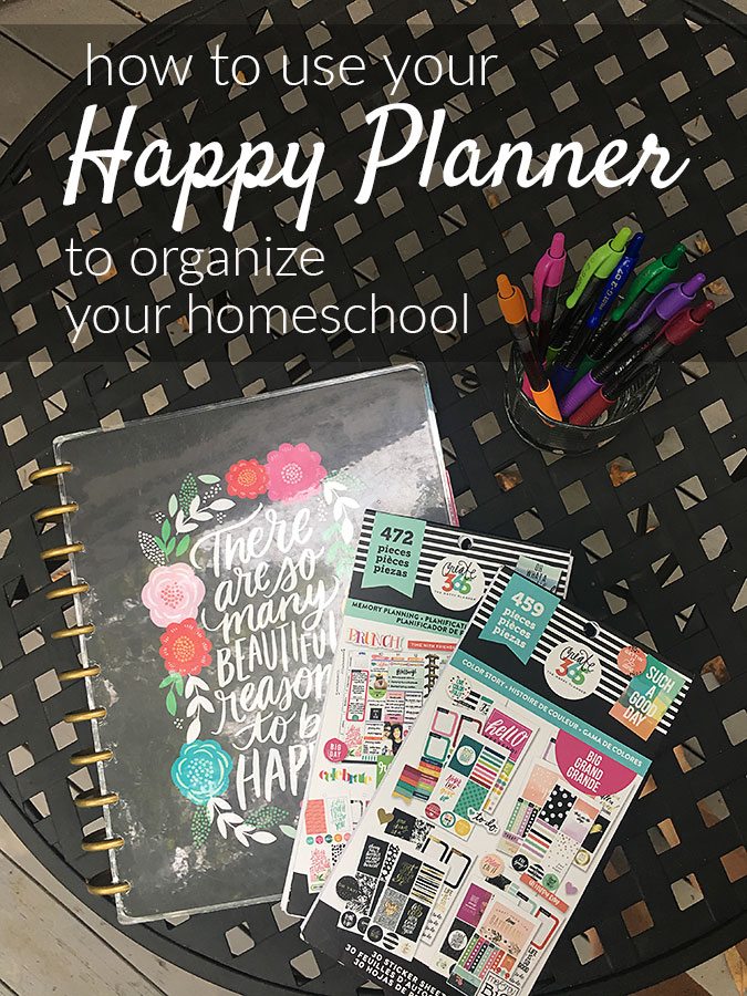 Need a homeschool planner? If you love the looks and functionality of the Happy Planner it is easy to use it as your homeschool planner.