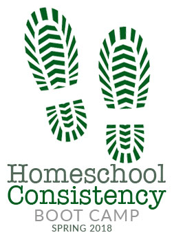 Homeschool Consistency Boot Camp Spring 2018 logo
