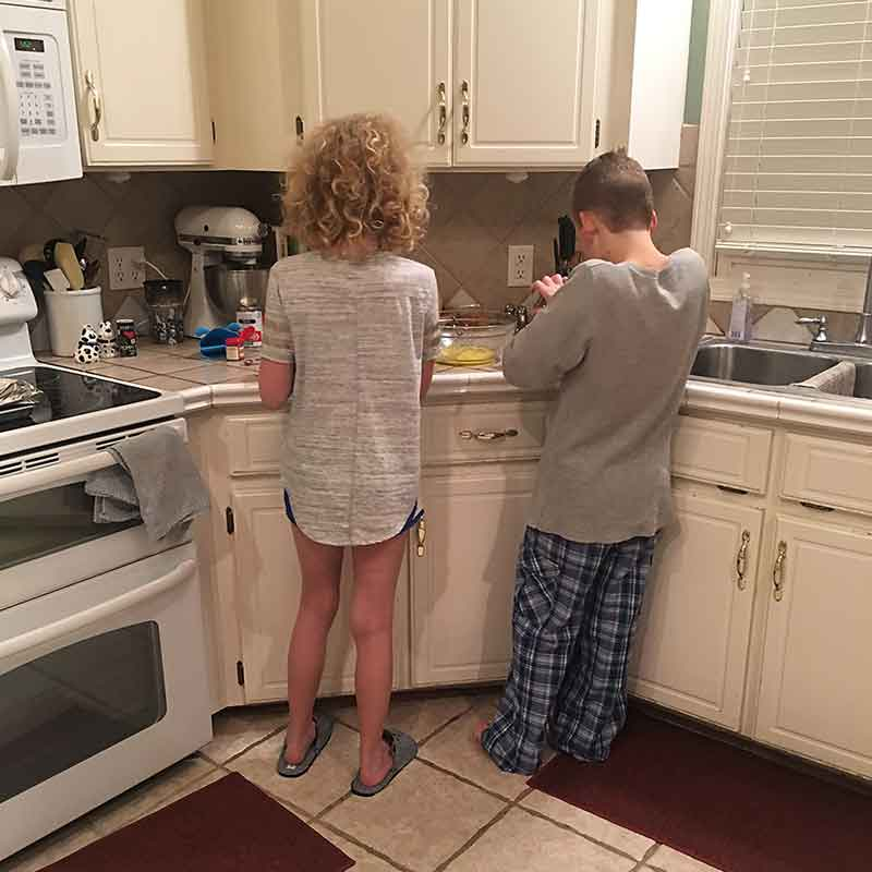 Proactive Homeschooling Fixing Breakfast