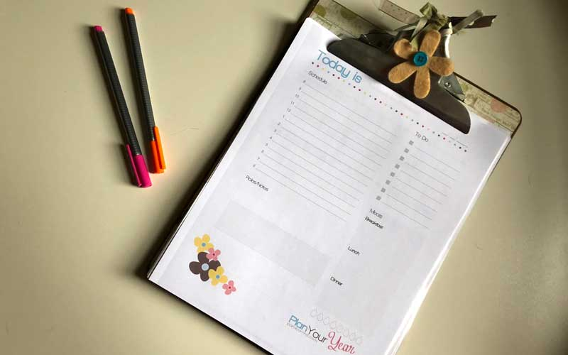 Homeschool Daily Docket Form