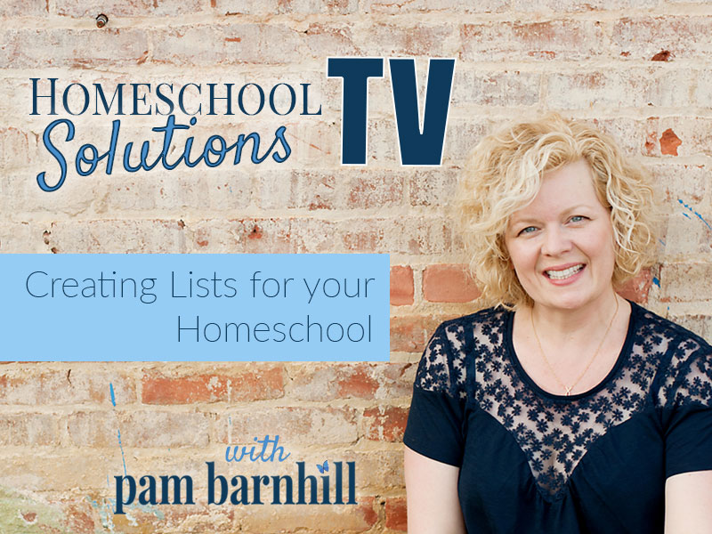 HSTV: The Lists You Need to Put Your Homeschool on Autopilot