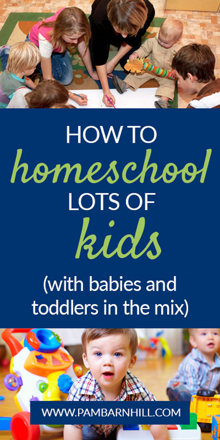 How to homeschool lots of kids (with babies and toddlers in the mix)