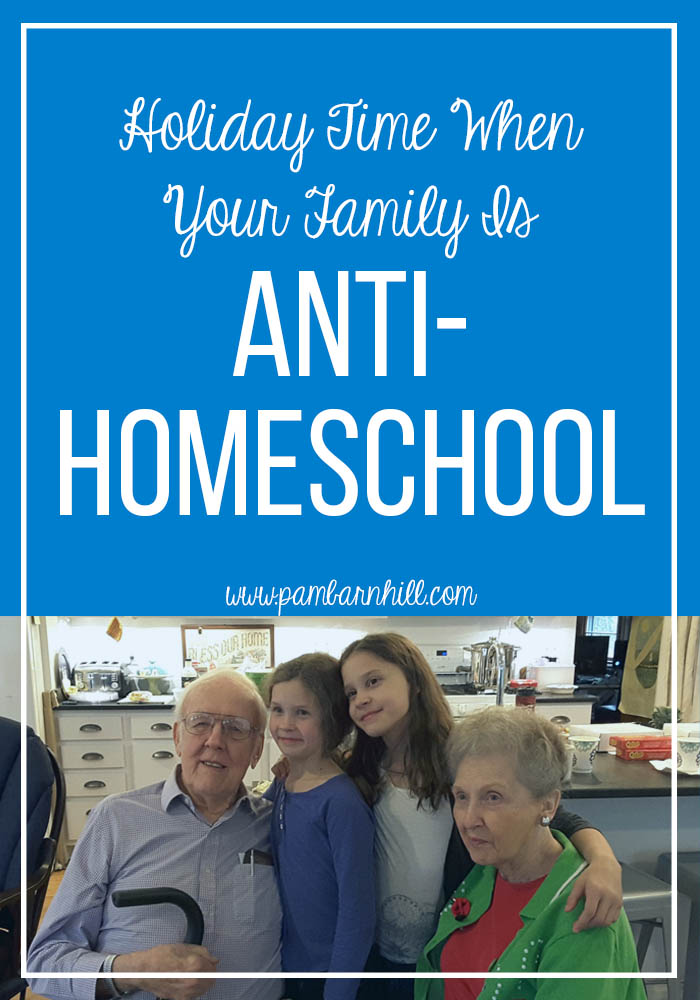 Holiday Time when Your Family is Anti-Homeschool