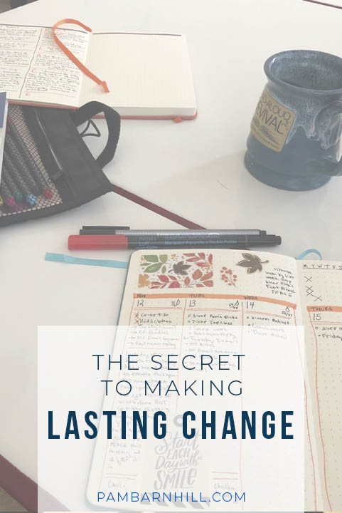 The secret to making lasting change