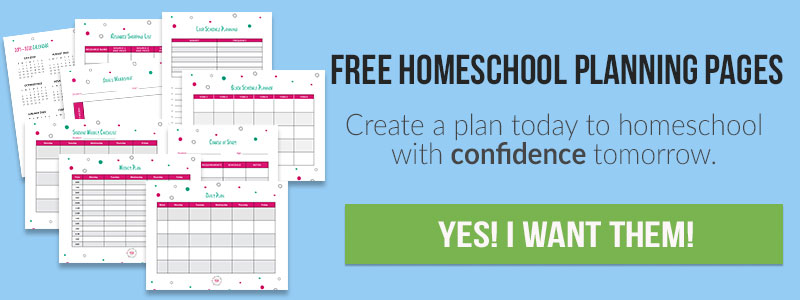 Plan Your Homeschool Year Using This Free Homeschool Planner