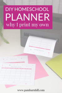 pin for printing homeschool planner