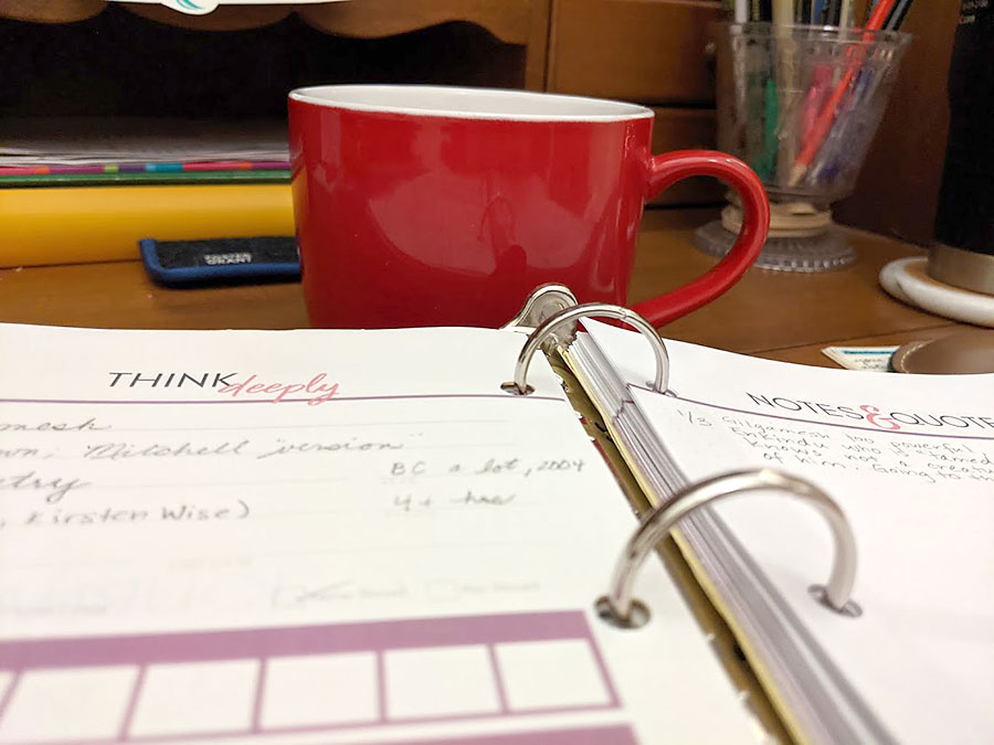 Coffee Cup and binder